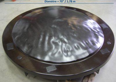 Moule de réflecteur en fibre de carbone