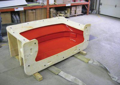 Moule en composites pour carrosserie d'ambulance