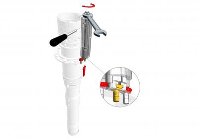 Taper bolt extractor