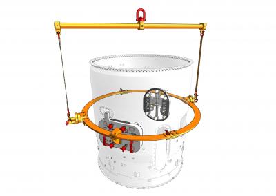 Lifting and rotating fixture